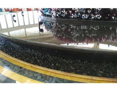 黑色雨花石鹅卵石用于高端酒店大厅